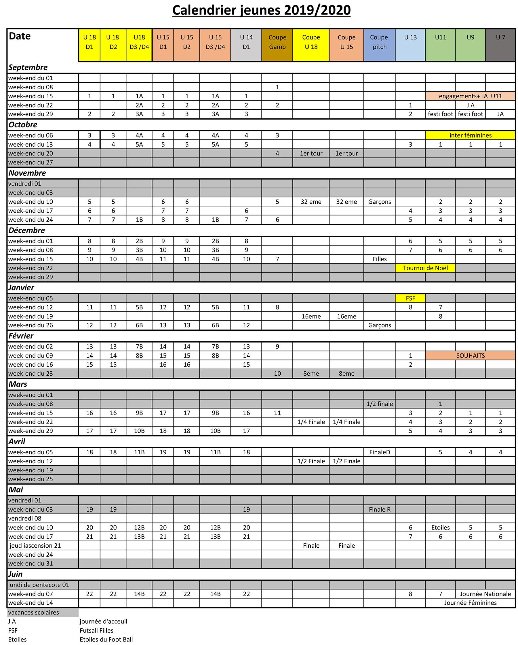 Calendrier Sport 2020.L Etrat La Tour Sportif Calendrier General District De La